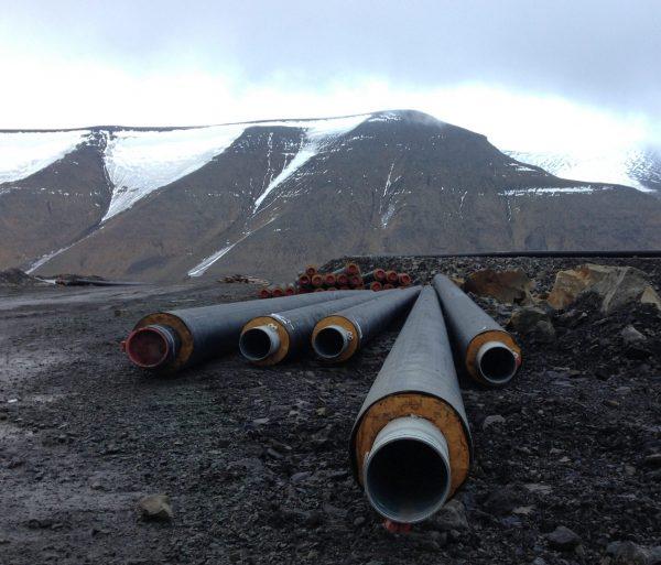 Isolerte Alvenius rør Svalbard